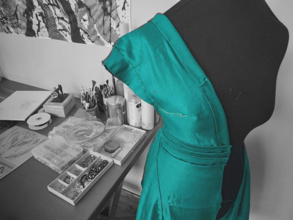 silk dress μεταξωτό φόρεμα